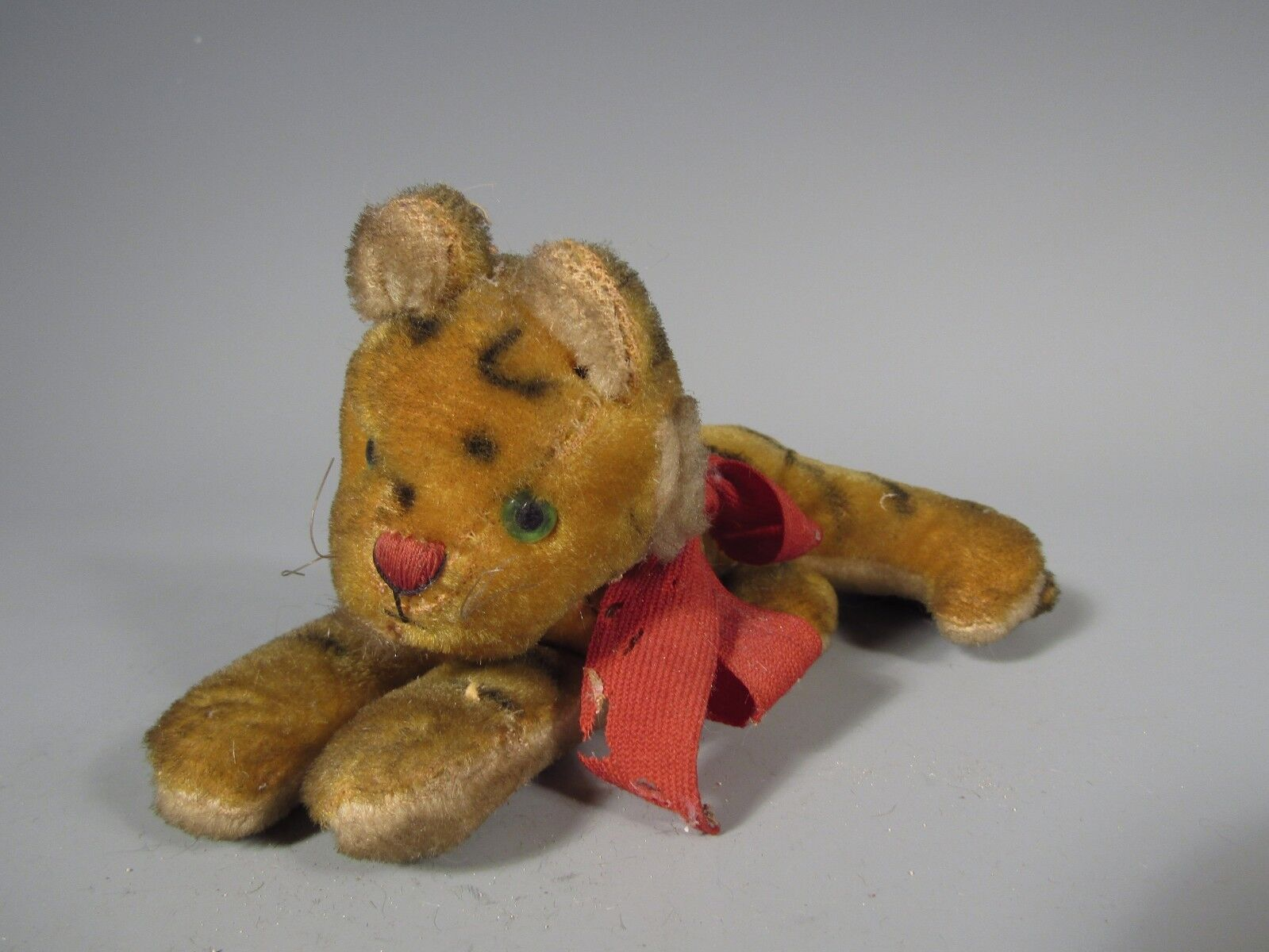 RARE German Germany Steiff Tiger Cub Green Eyes Stuffed Toy ca. 20th century