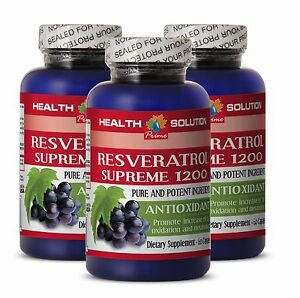 RESVERATROL-SUPREME-1200mg-red-wine-extract-grape-seed-capsules-3-bottles