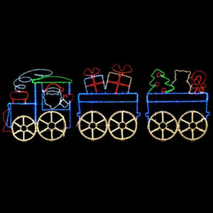 image is loading large led santa christmas toy train premium rope