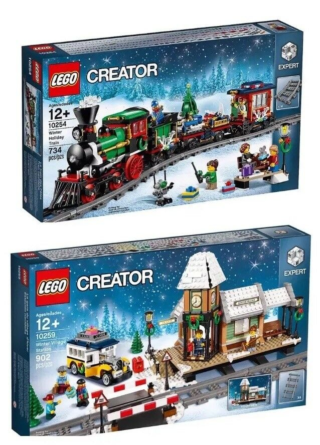 LEGO Xmas Creator Sets  10254 Train & 10259 Village Station + Power Functions