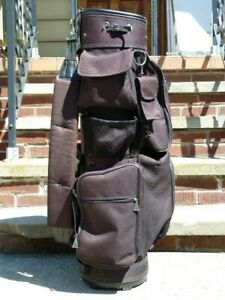 Golf bag with multiple pockets and dividers +stick+ extra storage bag