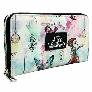 NEW-OFFICIAL-ALICE-IN-WONDERLAND-THROUGH-THE-LOOKING-GLASS-WHITE-CLUTCH-PURSE