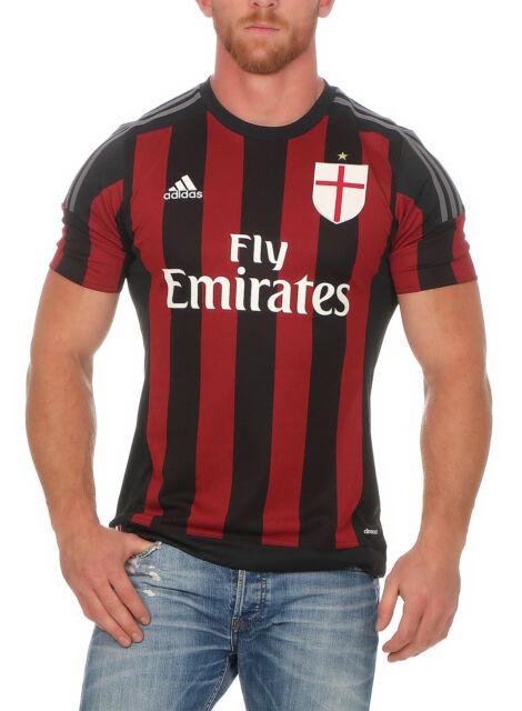 Adidas Ac Milan Maillot Éventail Jersey Haut Ac Milan Home Heim S11836 Football