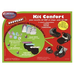 Kit-confort-Baby-039-in-bleu-turquoise-gris-noir-NEUF-protection-Nacelle-Siege-auto