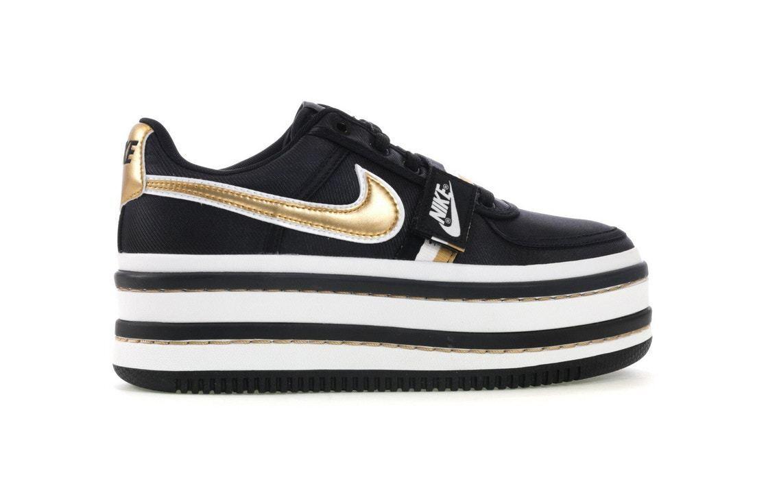 Nike Vandal 2K Black Metallic Gold WMNS AO2868-002 NEW 100% Authentic Sz7.5