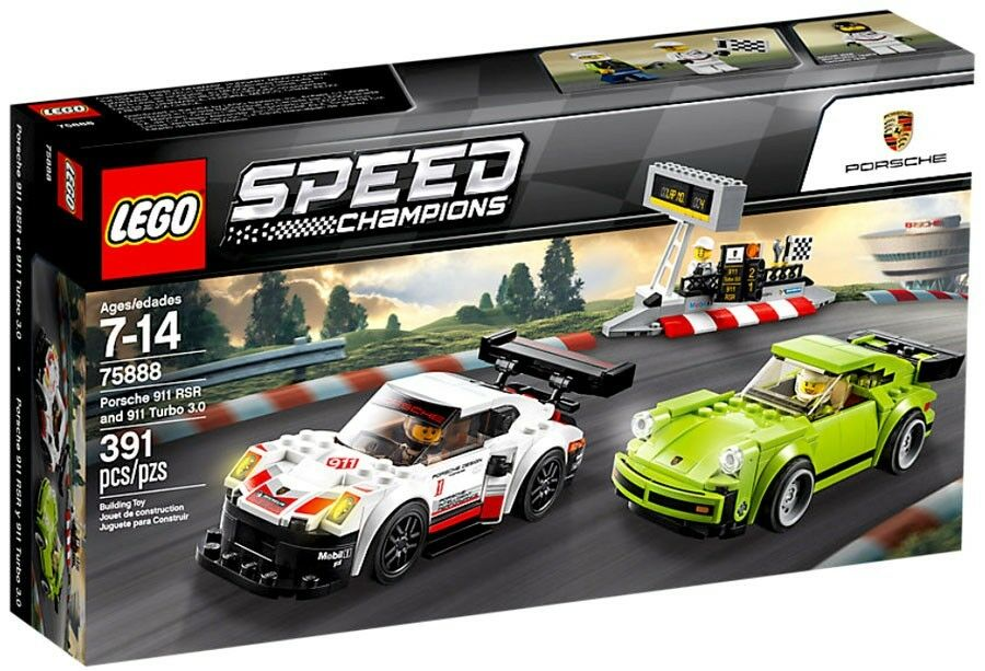 LEGO Speed Champions Porsche 911 RSR & 911 Turbo 3.0 Set  75888