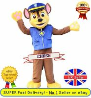Chase Mascot Costume - Paw Patrol ✔ Complete Adult Outfit ✔ All Sizes - Uk