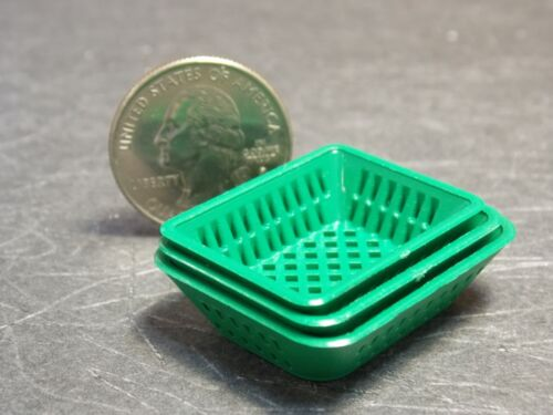 Dollhouse Miniature Green Produce Tray Set 1:12 one inch scale F4 Dollys Gallery
