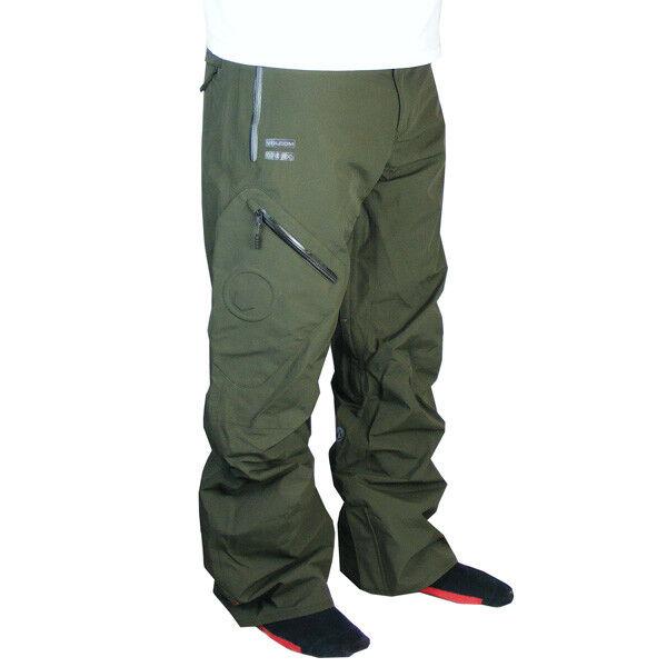 Volcom Snow Military Ski Snowboard Pants Pant Gorrtex Men's Green SIZE L