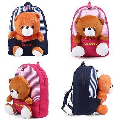 Children Kid Child Lovely Cartoon Bear Doll Schoolbag Backpack Shoulder Bookbags