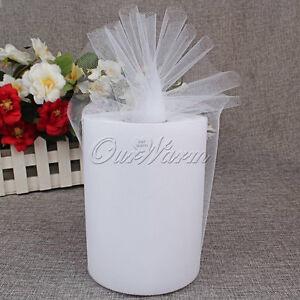 White-Tulle-Roll-Spool-6-034-x100YD-Tutu-Circle-DIY-Skirt-Fabric-Wedding-Party-Craft