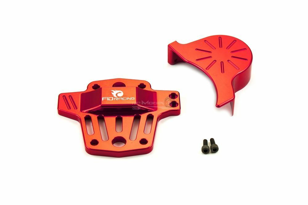 FID Center Diff Brace V2 & Gear Cover  FID031 Upgrade for Losi 5ive & KM X2