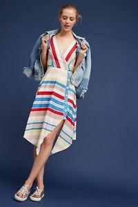 291c7e64344e ANTHROPOLOGIE NWT Naomi Striped Midi Dress by Tracy Reese Sz 12 $178 ...