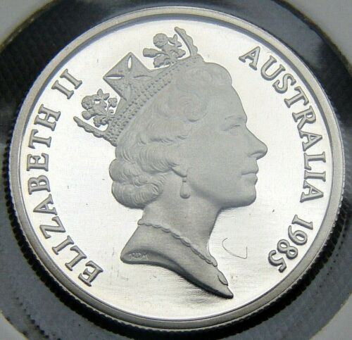 1985 5 cent proof coin from set in 2 x 2 holder C//V $30 WOW! Only 74,089 made