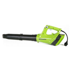 Greenworks 2400902 9 Amp 530 CFM Variable Speed Light Corded Axial Leaf Blower