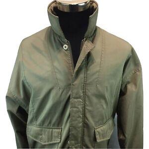 LOBO by Pendleton Tan Jacket Plaid Tartan Lined Zip/Button Front Bomber M