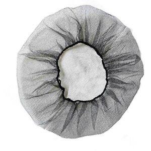 "Superior Shield-Safety Nylon Mesh Hairnet 18"" Length Black (10 Bags - 1000 Pcs)"