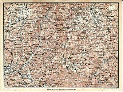 Cartina Geografica Spoleto.Appennini Umbria Terni Spoleto Norcia Carta Geografica Touring Club 1924 Ebay