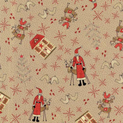 Lynette Anderson Navidad escandinavo II Papá Noel tan-por 1//4 Metro
