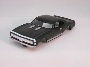 MODEL MOTORING BLACK W/WHITE STRIPE '67 CAMARO RS SHELL ~ NEW ~ FITS AURORA TJET