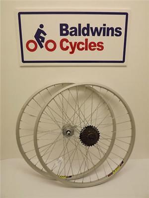 700c paire hybrid roues vélo-libération rapide 6 vitesses SHIMANO roue libre