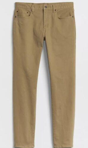 NWT Gap Slim Jeans with GapFlex Stretch Khaki Color 30x32