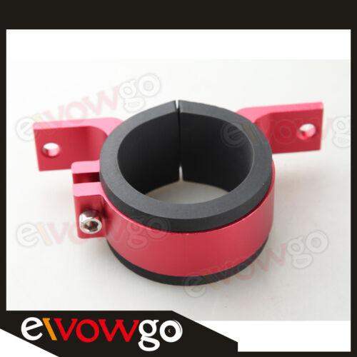52mm Fuel Pump Bracket Anodised Single Billet Filter Clamp Cradle Red