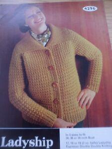 DéVoué Vintage Rare Comtesse 1970 S Ddk Knitting Pattern Femmes Cardigan 34 - 38 In (environ 96.52 Cm)-afficher Le Titre D'origine