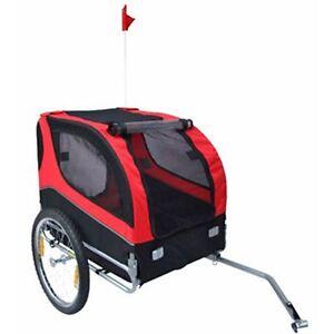vidaXL Pet Dog Cat Bike Bicycle Trailer Foldable Lassie Red Wagon Carrier