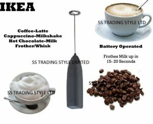IKEA-Black-Coffee-Latte-Hot-Chocolate-Milk-Frother-Whisk-Frothy-Blend-Whisker