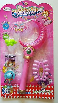 Pretty Guardian Sailor Moon Pink Crescent moon Wand  Moonlight Stick Unique