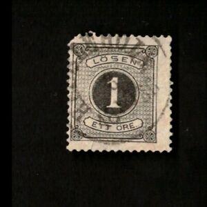 Sweden 1874 Postage Due Stamp Sc J1 Used Ebay