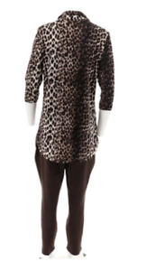 Fine Women With Control Regular Printed Tunic & Ankle Pants Set Color Chocolate Xxs Buy One Give One Mixed Items & Lots