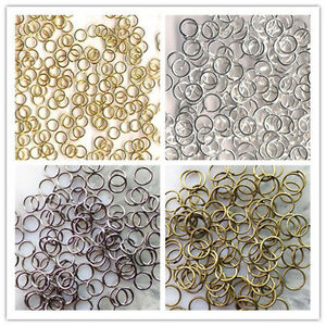 3-4-5-6-7-8-9-10mm-Wholesale-Metal-Jump-Ring-Gold-Silver-Black-Bronze-Plated