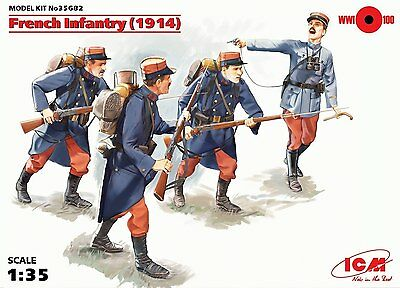 ICM 1/35 French Infantry 1914  (4 figures) #35682