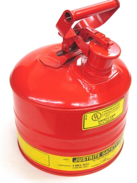 Safety Gas Can >> New Justrite Mfg 2 Gallon Type I Safety Gas Can 10501 W Screen