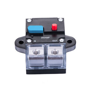 US Shipping 0 OR 4 Ga 200 AMP Car Stereo 12V Inline Power Circuit Breaker CB-08