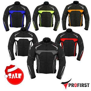 Mens-Motorbike-Motorcycle-Jacket-Waterproof-Textile-Biker-Armoured-CE-Cordura