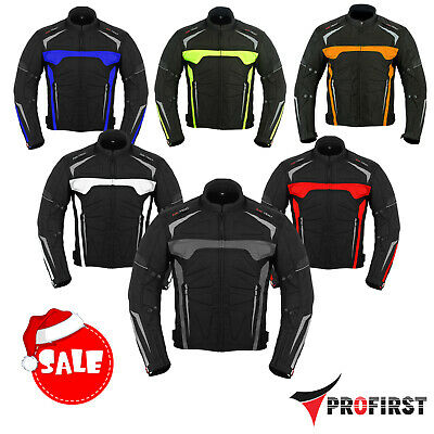 Men Motorcycle Jacket CE Approved Armor Textile Cordura Vents Biker Jackets Coat