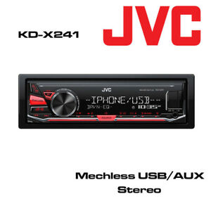 JVC KD-X241 Digital Media Mechless USB MP3 AUX iPOD FLAC Audio Car Stereo