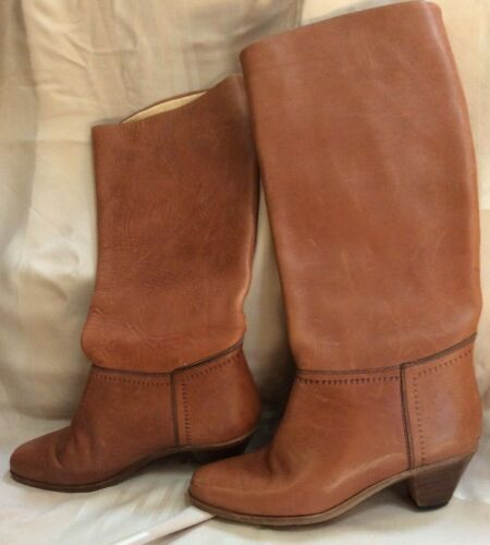 Golo Boots Vintage Camel Tall Riding Boots Leather