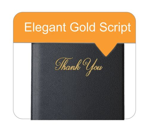 """Presenter with Gold Thank You Imprint 5.5/"""" x 10/"""" ... Guest Check Card Holder"""