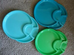 Image is loading P&ered-Chef-Outdoor-Plastic-Plates-x6-with-Cup- & Pampered Chef Outdoor Plastic Plates x6 with Cup Holder | eBay