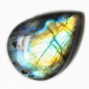 Cts-34-75-Natural-Multi-Shade-Labradorite-Cabochon-Pear-Cab-Loose-Gemstone