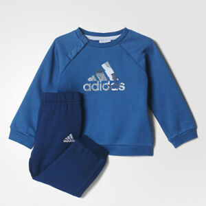 93abb805e954 Adidas Infant Boys Sports Crew Jogger Full Tracksuit Kids Children ...