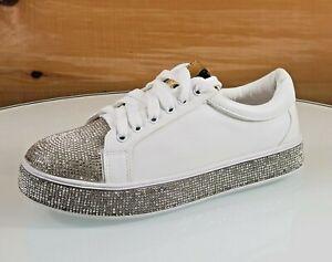 Rhinestone Fashion Sneaker White