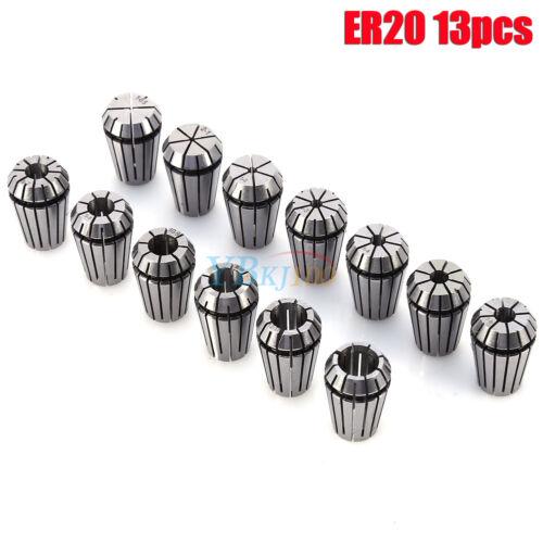 ER11 ER16 ER20 ER25 ER32 10//13 stk Spannzangen Set Industrie Fräsmaschinen DE #