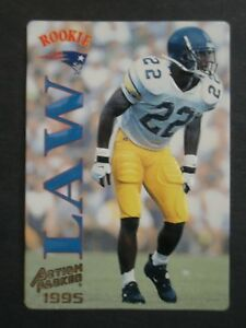 huge discount 87a54 bc5f2 Details about Ty Law ROOKIE 1995 Action Packed #116 Patriots Michigan 2019  HALL OF FAME! Mint