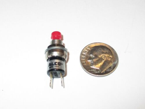 ON MOMENTARY  NOS MINI PUSH BUTTON SWITCH ALCO MSPS-103C SPST  OFF