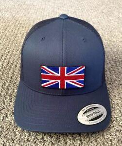 Union Jack Flag Hat United Kingdom Great Britain Flag Handcrafted Cap